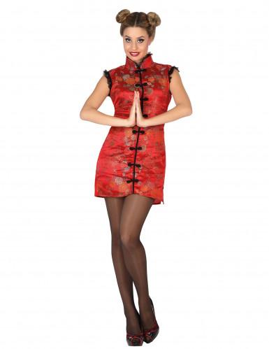 Chinesinnen-Kostüm in Rot für Damen