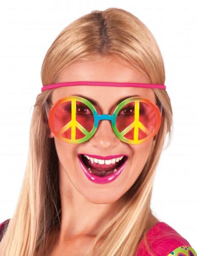 Regenbogen Hippie-Brille für Erwachsene