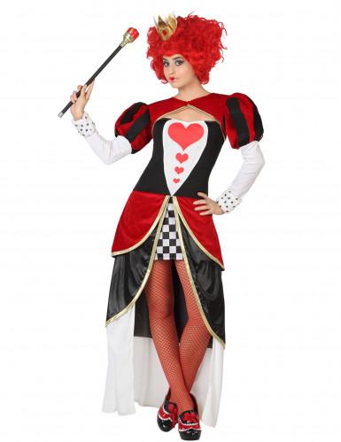 Herzkönigin Kostüm für Damen