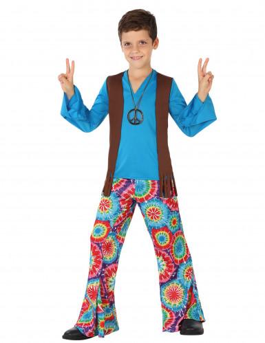 Hippie-Kostüm in Blau für Jungen