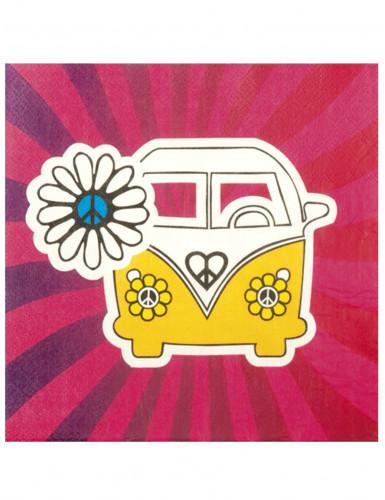 12 Papierservietten - Hippie-VW