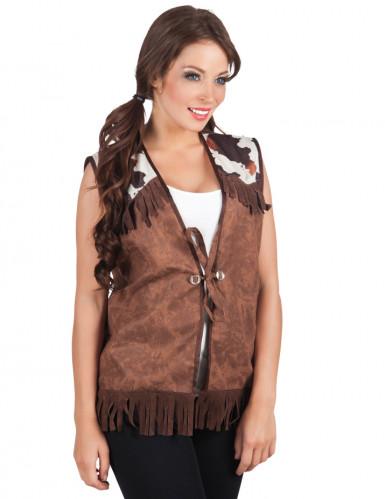 Western-Jacke in Braun für Frauen