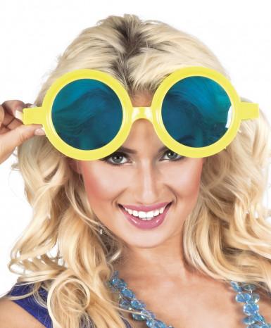 Riesen Partybrille in Gelb für Erwachsene