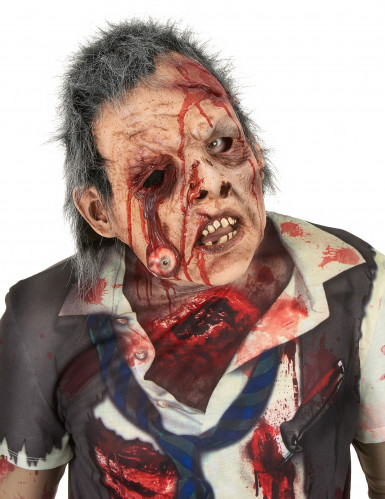 Zombie-Maske mit Haaren