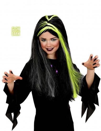 Leuchtende Perücke Halloween für Mädchen