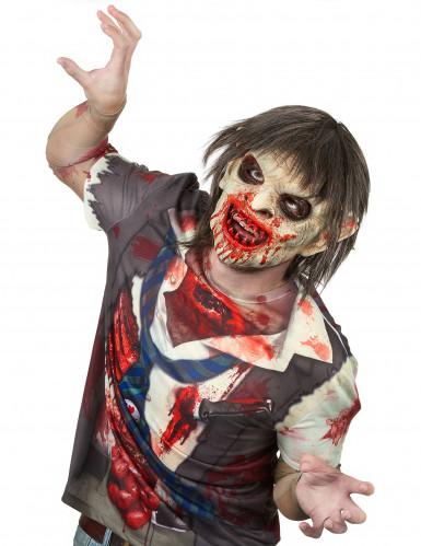 Blutiger Zombie Maske - Deluxe Halloween