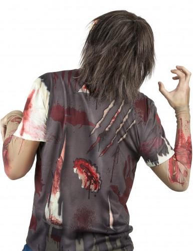 Blutiger Zombie Maske - Deluxe Halloween-1