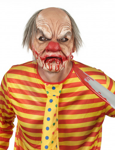 Blutige Clownsmaske