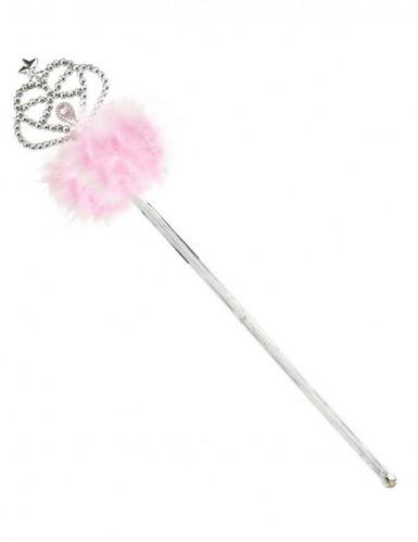Prinzessinnenstab mit rosa Fellimitat