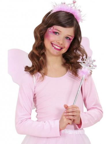 Zauberstab und Krönchen in rosa