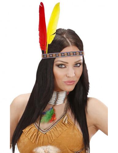 Indianer Stirnband mit Federn für Erwachsene
