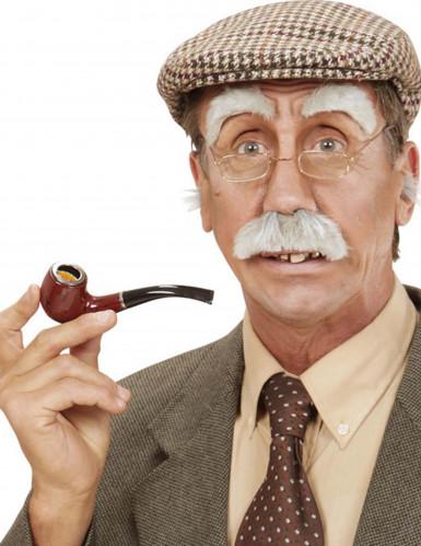 Opa Augenbrauen und Schnurrbart