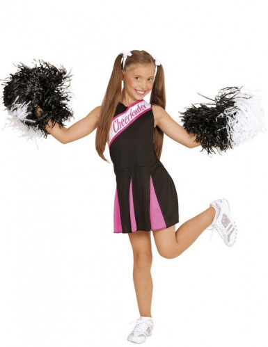 cheerleader kost m f r m dchen in rosa und schwarz kost me f r kinder und g nstige. Black Bedroom Furniture Sets. Home Design Ideas