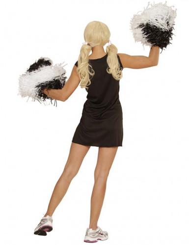 Cheerleader-Kostüm in Rosa und Schwarz für Frauen-1