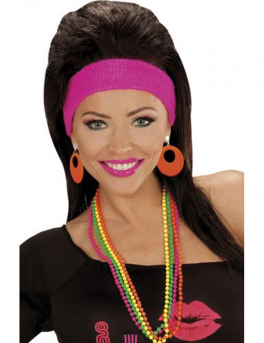 Neon orange Ohrringe für Erwachsene