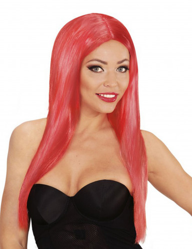 Rote Glamour Perücke für Damen