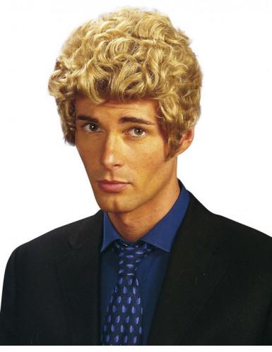 Lockige Kurzhaar Perücke für Erwachsene blond