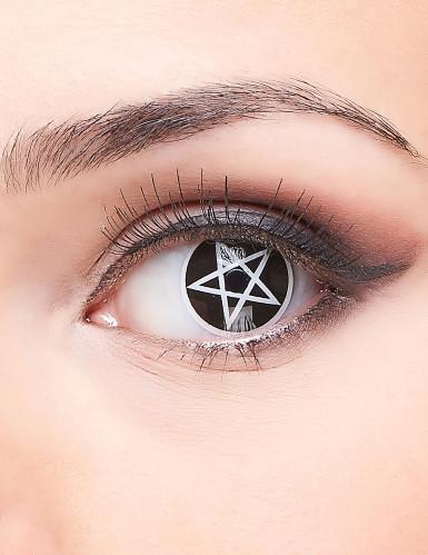 kontaktlinsen satan pentagramm halloween schminke und. Black Bedroom Furniture Sets. Home Design Ideas