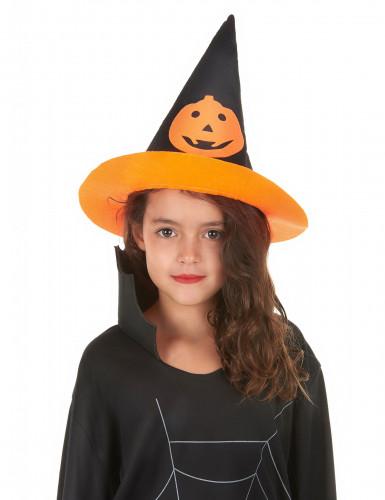 Hexenhut mit Kürbis für Kinder Halloween-1