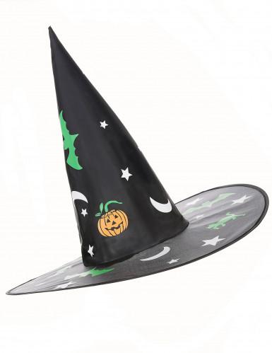 Hexenhut mit Halloween-Muster