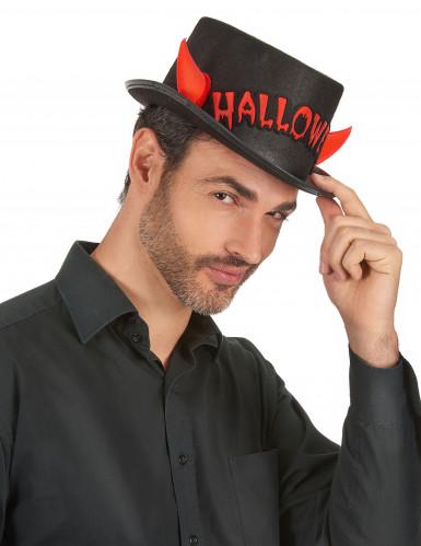 Halloween-Zylinder mit roten Hörnern-2