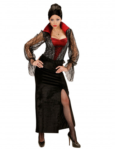 halloween vampir kost m f r damen kost me f r erwachsene. Black Bedroom Furniture Sets. Home Design Ideas