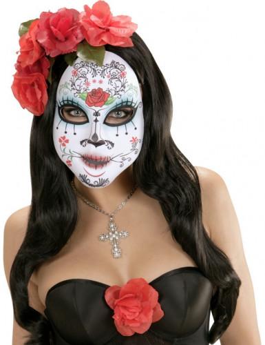 Día de los Muertos Maske für Erwachsene - Rosa