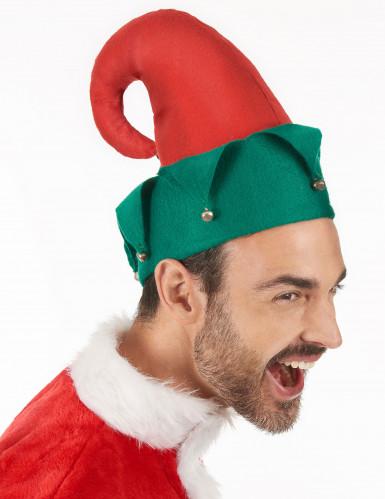 Weihnachtskobold-Mütze mit Glöckchen-2
