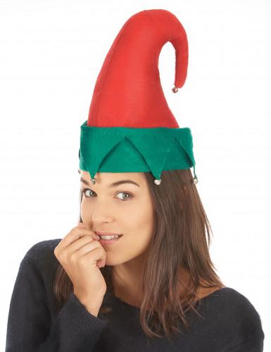 Weihnachtskobold-Mütze mit Glöckchen-1