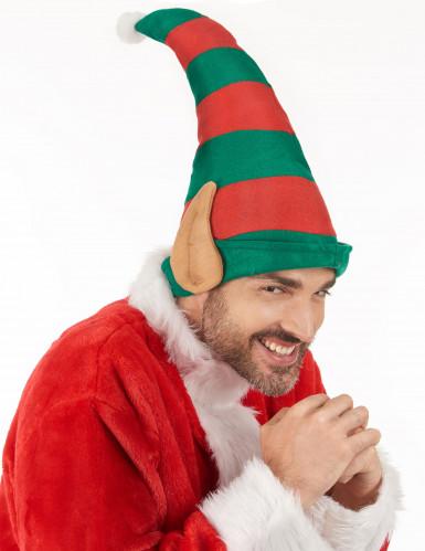 Gestreifte Weihnachtskobold-Mütze mit Ohren-2