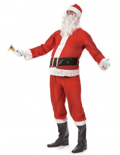 klassisches Weihnachtsmann-Kostüm für Erwachsene mit Mütze-1