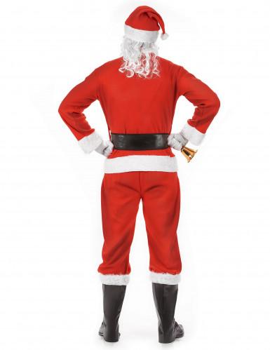klassisches Weihnachtsmann-Kostüm für Erwachsene mit Mütze-2