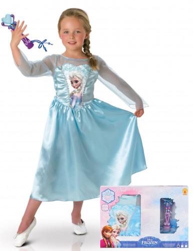 Elsa Die Eiskönigin™ Kleid + Mikrofon