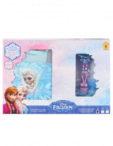 Elsa Die Eiskönigin™ Kleid + Mikrofon-1