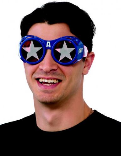 Kostümbrille Captain America für Erwachsene