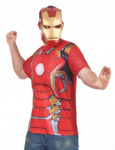 T-Shirt und Maske aus dem Film Iron Man 2 für Erwachsene