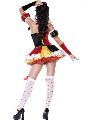 Sexy Kostüm als Königin der Herzen für Frauen-1