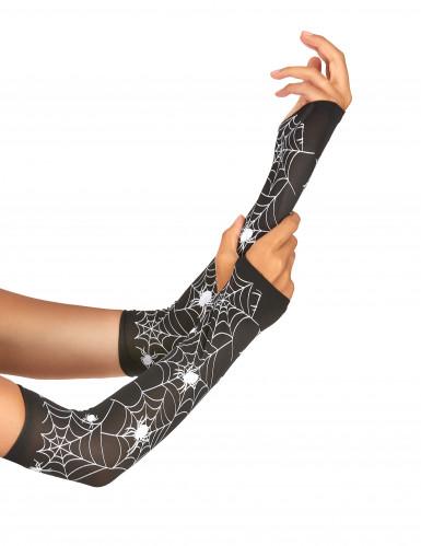 Accessoire Handschuhe Spinnennetz für Damen