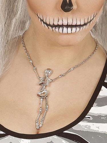Kette mit Skelett silber für Damen-1