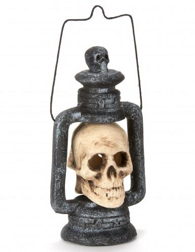 Totenkopf Laterne für Halloween