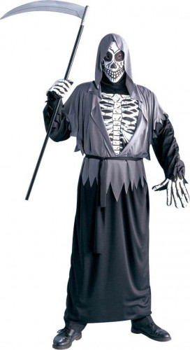 Halloween Skelett Kostüm für Erwachsene Schnitter Tod