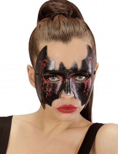 Blutige Fledermaus Halloween Augenmaske für Damen