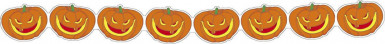 Halloween Girlande mit höhnisch lachenden Kürbissen 3 m