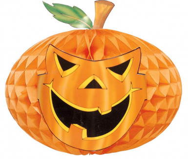 Papierlaterne Kürbis - Halloween
