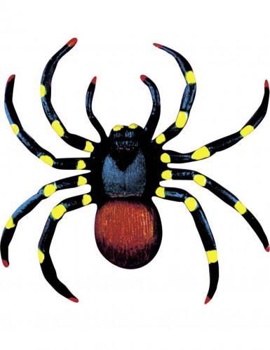 Zwei farbige Halloween Spinnen 10 cm