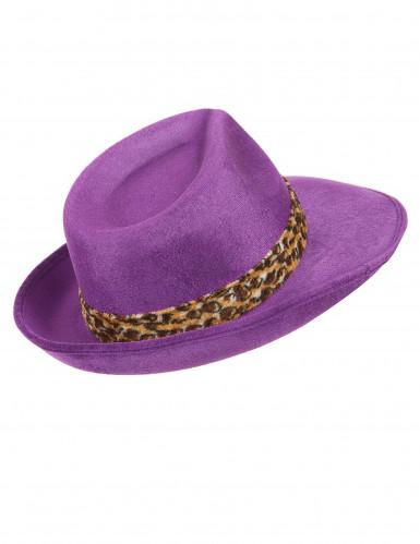 Violetter Pimp-Hut für Erwachsene-2
