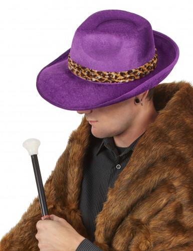 Violetter Pimp-Hut für Erwachsene-1