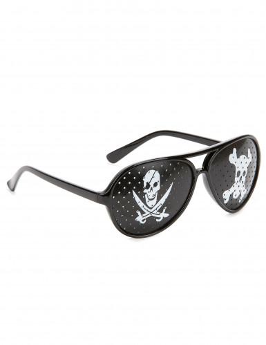 Schwarze Piratenbrille