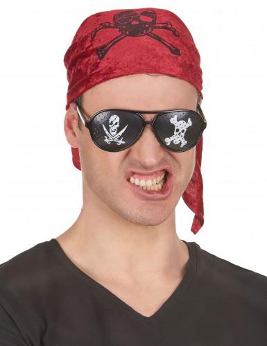 Schwarze Piratenbrille-1
