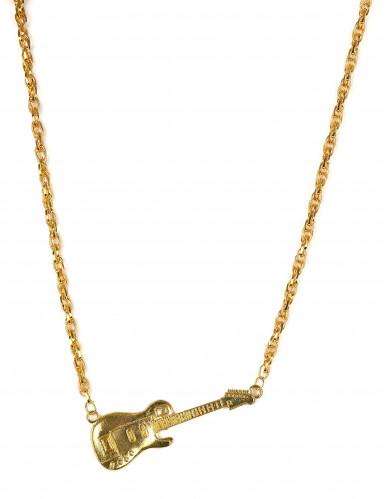 Goldene Gitarren-Halskette